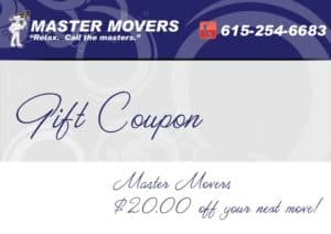 moving company coupon, nashville moving discount
